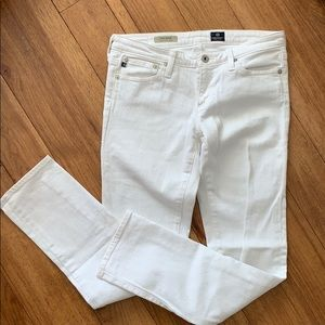 Adriano Goldschmied stilt cigarette white jeans